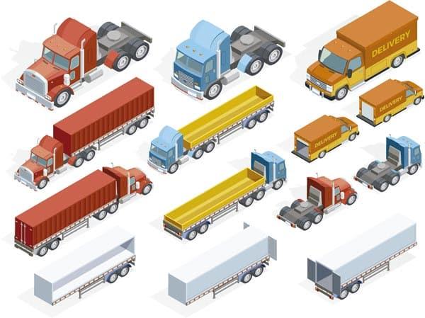 camiones flota isometria